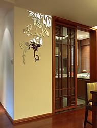 abordables -Autocollants muraux décoratifs - Autocollants muraux 3D / Miroirs Muraux Autocollants A fleurs / Botanique / 3D Chambre à coucher / Bureau