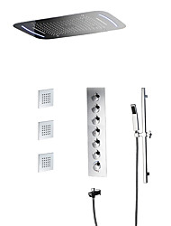 cheap -Shower Faucet - Contemporary Chrome Wall Mounted Ceramic Valve