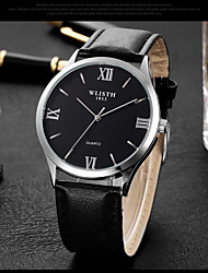 cheap -Men's Dress Watch Quartz Leather Black / Brown 30 m Casual Watch Analog Fashion - Black / Brown Black / White White / Brown One Year Battery Life / Stainless Steel