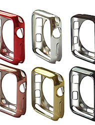 cheap -For Apple Watch Series 4 3 2 1 iWatch 38/42/40/44mm Slim Soft TPU Protect Case Cover