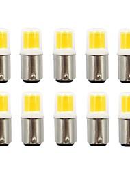 cheap -10pcs 2.5 W LED Bi-pin Lights 200 lm BA15D 1 LED Beads COB New Design Warm White White 110/220 V