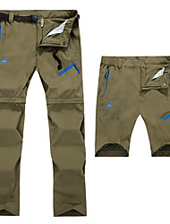 cheap -Men's Hiking Pants Convertible Pants / Zip Off Pants Outdoor Waterproof Sunscreen Breathable Quick Dry Pants / Trousers Bottoms Camping / Hiking Hunting Fishing Army Green Khaki Black 6XL L XL XXL