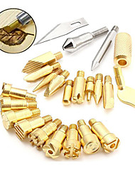 cheap -23-In-One Pyrography Engraving Tool Engraving Iron Tip Hot-Iron Tip Engraving Accessories Engraving Cutter Head Kit