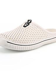 abordables -Femme Sabot & Mules Eté Talon Plat Bout rond Simple Quotidien De plein air EVA Chaussures d'Eau / Chaussures Tendances Blanche / Noir / Rouge
