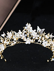 cheap -Alloy Tiaras with Faux Pearl / Flower 1 Piece Wedding / Special Occasion Headpiece