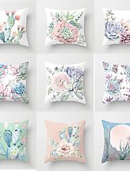 Недорогие -1 штук Полиэстер Наволочка, Цветочный принт Мода Бросить подушку