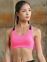 cheap -Women's Sports Bra Top Sports Bra Bra Top Cross Back Yoga Running Fitness Breathable Quick Dry Sweat-wicking Padded Light Support Black White Fuchsia Fashion
