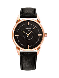 cheap -Men's Dress Watch Quartz Leather Black / Brown Noctilucent Analog Fashion Minimalist - Black / Brown Black / White White / Brown