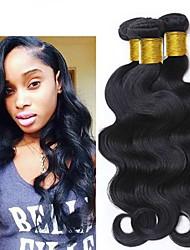 cheap -3 Bundles Brazilian Hair Body Wave 100% Remy Hair Weave Bundles Wig Accessories Headpiece Natural Color Hair Weaves / Hair Bulk 8-28 inch Natural Color Human Hair Weaves Odor Free Sexy Lady Cool