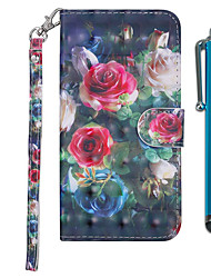 cheap -Case For Samsung Galaxy Galaxy M10(2019) / Galaxy M20(2019) / Galaxy M30(2019) Wallet / Card Holder / with Stand Full Body Cases Flower Hard PU Leather