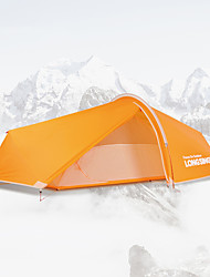 cheap -LONGSINGER 1 person Family Tent Outdoor Breathability YKK Zipper Double Layered Poled Camping Tent 2000-3000 mm for Camping / Hiking / Caving Traveling Ultra light Aluminium Nylon 330*165*94 cm