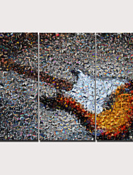 Недорогие -С картинкой Отпечатки на холсте - Натюрморт Традиционный Modern 3 панели Репродукции