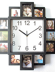 cheap -Modern Contemporary  Irregular Indoor Indoor / Outdoor 16-Inch Black Plastic Frame Wall Clock
