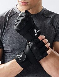 cheap -Bike Gloves / Cycling Gloves Trainer Durable Fingerless Gloves Sports Gloves Black Grey for Adults' Cycling / Bike