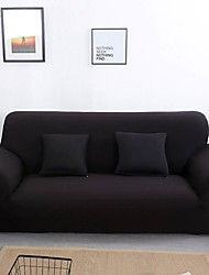 Недорогие -чехлы на диваны однотонные черного цвета / полиэстер с реактивной печатью / очень эластичные чехлы на диваны