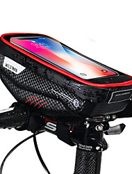 cheap -Cell Phone Bag Bike Handlebar Bag 6.2 inch Cycling for iPhone 8 Plus / 7 Plus / 6S Plus / 6 Plus iPhone X Black Black-Red Cycling / Bike