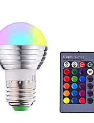 cheap -1pc 3 W LED Smart Bulbs 200-250 lm E14 E26 / E27 1 LED Beads SMD 5050 Smart Dimmable Remote-Controlled RGBW 85-265 V / RoHS