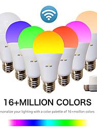 Недорогие -EXUP® 1шт 9 W Умная LED лампа 810 lm E26 / E27 A60(A19) 34 Светодиодные бусины SMD 2835 Контроль APP Smart синхронизация RGB и CW 85-265 V