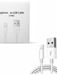 cheap -2Pcs For iPhone Cable Original 2A Fast Charging Cable For iPhone XS Max XR X 8 7 6 6S 5 5S iPad Cord Mobile Phone Charger USB Cables