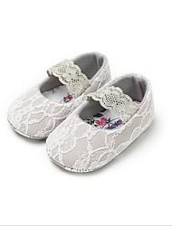cheap -Girls' Flower Girl Shoes Cotton Flats Infants(0-9m) White / Gray / Pink Spring / Summer
