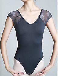cheap -Ballet Leotards Women's Training Elastane Lace Short Sleeve Natural Leotard / Onesie