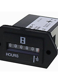 cheap -1 pcs SYS-1 AC100-250V DC12-36V 6-80 AC-DC Universal Electromechanical Hour Meter Counter