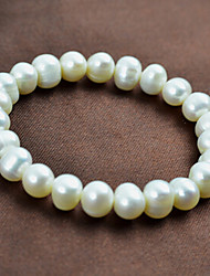 cheap -Women's White Pearl Bead Bracelet 3D Precious Stylish Basic Pearl Bracelet Jewelry White For Daily Work