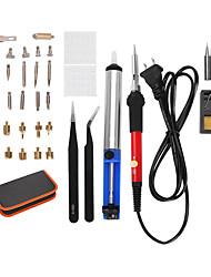Недорогие -28 комплектов 5 цуй черный пинцет пакет полки заказ - электрический утюг набор регулируемая температура горения кисти