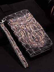 cheap -Case For Apple iPhone XR / iPhone XS Max Pattern / Flip / with Stand Full Body Cases Laser 3D Owl Hard PU Leather for iPhone 6 / 6 Plus / 6S / 6S Plus / 7 / 7 Plus / 8 / 8 Plus / XS / X
