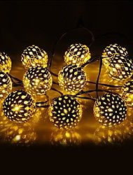 cheap -Solar String Lights Moroccan Ball Waterproof 10M 50LED 7M 30LED and 5M 20LED Balls Globe Fairy String Light Orb Lantern Christmas Lighting for Outdoor Party Home Decoration