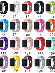 cheap -Smartwatch Band for Apple Watch Series 5/4/3/2/1 Fashion Soft Silicone Sport Band iwatch Strap