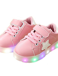 cheap -Girls USB Charging  LED / LED Shoes PU Sneakers Toddler(9m-4ys) / Little Kids(4-7ys) Black / White / Green Spring / Fall / Rubber