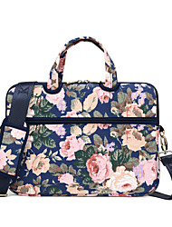 cheap -LITBest 13 Inch Laptop Shoulder Messenger Bag / Briefcase Handbags Canvas Floral Print for Business Office