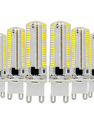 cheap -YWXLight® 6pcs G9 Dimmable Silicone Corn Bulb 3014 SMD 152LED Energy Saving Lamp 7W (70W Halogen Equivalent) LED Bulb for Home Lighting 110-130V 220-240V