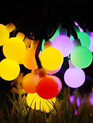 cheap -50m String Lights 500 LEDs 1Set Mounting Bracket 1 set Warm White / RGB / White Waterproof / Solar / Creative Solar Powered