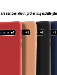 cheap -Phone Case For Samsung Galaxy Back Cover S10 S10 + Galaxy S10 E Frosted Solid Colored Soft TPU