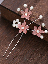 cheap -Alloy Hair Clip with Flower 1 Piece Wedding / Special Occasion Headpiece