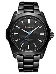 cheap -CURREN Men's Sport Watch Japanese Japanese Quartz Black / White 30 m Water Resistant / Waterproof Casual Watch Analog Casual Simple watch - Black Black / White Black / White