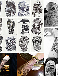 cheap -12 pcs Temporary Tattoos Water Resistant / Ergonomic Design / Best Quality brachium / Chest / Back Tattoo Stickers