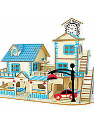 abordables -Puzzles en bois Jeux de Logique & Casse-tête Architecture Maison Fait à la main Interaction parent-enfant En bois 1 pcs Enfant Adulte Tous Jouet Cadeau