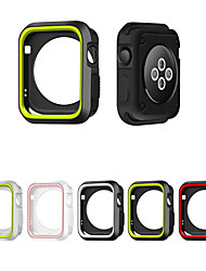 cheap -Silicone Cover For Apple watch Case Full Frame Rubber Protector Soft Case For iWatch Apple Watch Series SE / 6/5/4/3/2/1 44 mm 40 mm 38 mm 42mm