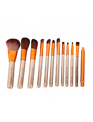 abordables -Professionnel Pinceaux à maquillage 12 pcs Couvrant Confortable Plastique pour Pinceau de maquillage