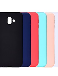 cheap -Phone Case For Samsung Galaxy Back Cover J8 (2018) J7 J7 (2016) J6 J5 J5 (2016) J4 (2018) J3 J3 (2018) J3 (2016) Shockproof Frosted Solid Color Soft TPU
