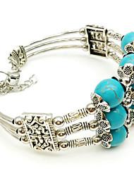cheap -Women's Bead Bracelet Braided Weave Casual / Sporty Stone Bracelet Jewelry Blue For Party Daily