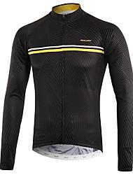 cheap -Arsuxeo Men's Long Sleeve Cycling Jersey Black Bike Top Back Pocket Sweat-wicking Sports Polyster Mountain Bike MTB Road Bike Cycling Clothing Apparel / Micro-elastic / Triathlon / Italian Ink