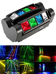 Недорогие -1 компл. Светодиодный свет этапа dmx512 управления звуком 40 Вт 8 движущиеся глаза голова краситель dj бар бальные украшения свет
