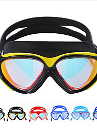cheap -Swimming Goggles Windproof Anti-Fog Swimming For Adults' Silicone Rubber PC Yellows Blacks Blues