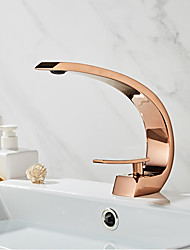 cheap -Faucet Set - Widespread Rose Gold Centerset Single Handle One HoleBath Taps