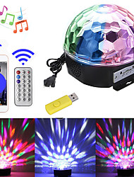 cheap -1 set LED Stage Lights Sound Control Bluetooth Music Mp3 Colorful Magic Ball Rotating Light Bar DJ Light