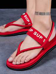 cheap -Men's Spring / Summer Casual / Beach Daily Outdoor Sandals Elastic Fabric Breathable Non-slipping Wear Proof Black / Red / Brown